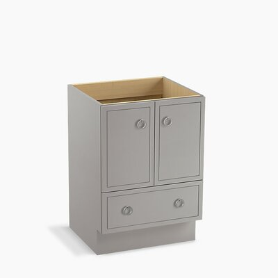 Jacquard� 24 Vanity with Toe Kick, 2 Doors and 1 Drawer Finish: Mohair Grey