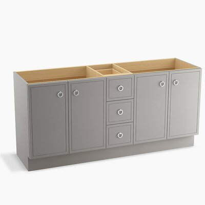 Jacquard 72 Vanity with Toe Kick, 4 Doors and 3 Drawers Finish: Mohair Grey