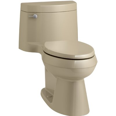 Cimarron Comfort Height One-Piece Elongated 1.28 GPF Toilet with AquaPiston Flush Technology, Concealed Trapway, and Left-Hand Trip Lever Finish: Mexican Sand