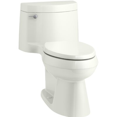 Cimarron Comfort Height One-Piece Elongated 1.28 GPF Toilet with AquaPiston Flush Technology, Concealed Trapway, and Left-Hand Trip Lever Finish: Dune