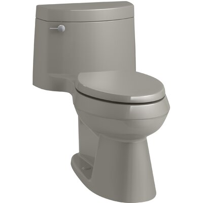 Cimarron Comfort Height One-Piece Elongated 1.28 GPF Toilet with AquaPiston Flush Technology, Concealed Trapway, and Left-Hand Trip Lever Finish: Cashmere