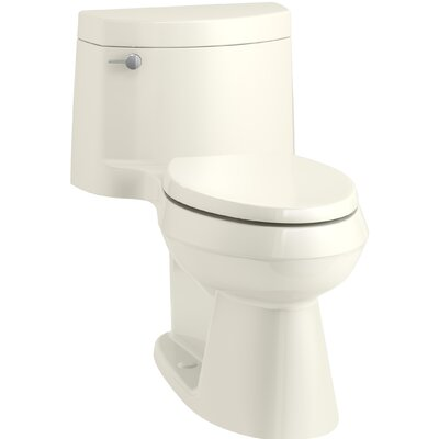 Cimarron Comfort Height One-Piece Elongated 1.28 GPF Toilet with AquaPiston Flush Technology, Concealed Trapway, and Left-Hand Trip Lever Finish: Biscuit
