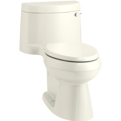 Cimarron Comfort Height One-Piece Elongated 1.28 GPF Toilet with AquaPiston Flush Technology, Concealed Trapway, and Right-Hand Trip Lever Finish: Biscuit