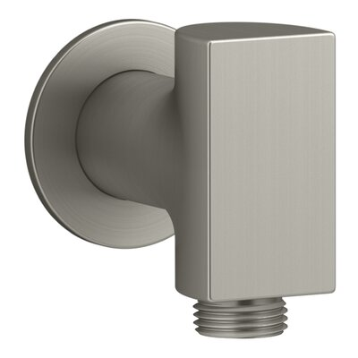 Exhale Wall-Mount Supply Elbow Finish: Vibrant Brushed Nickel