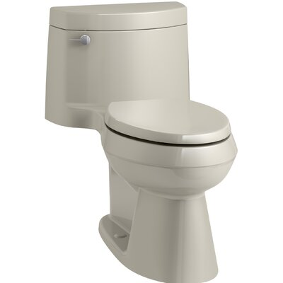 Cimarron Comfort Height One-Piece Elongated 1.28 GPF Toilet with AquaPiston Flush Technology, Concealed Trapway, and Left-Hand Trip Lever Finish: Sandbar