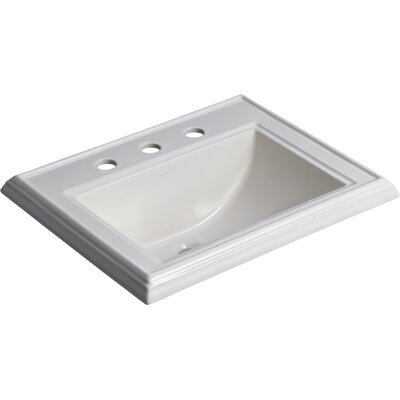 Memoirs Classic Self Rimming Bathroom Sink 8 Finish: Biscuit, Faucet Hole Style: 8 Widespread