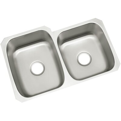 McAllister 32 x 21 Undermount Unequal Double Basin Kitchen Sink