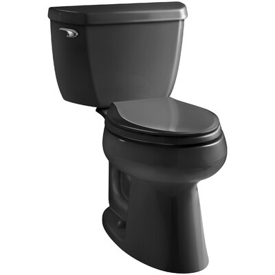 Highline Comfort Height 1.0 GPF Elongated Toilet 2 Piece Finish: Black, Lever Location: Left-Hand