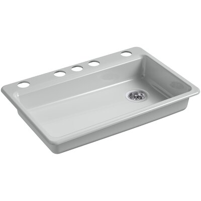 Riverby 33 x 22 Undermount Single Bowl Kitchen Sink Finish: Ice Gray