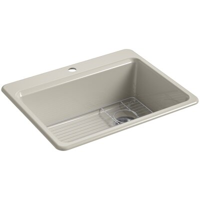 Riverby 27 x 22 Top Mount Single Bowl Kitchen Sink Faucet Drillings: 1 Hole, Finish: Sandbar