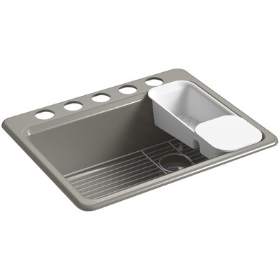 Riverby 27 x 22 Undermount Single Bowl Kitchen Sink Finish: Cashmere