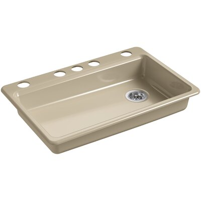 Riverby 33 x 22 Undermount Single Bowl Kitchen Sink Finish: Mexican Sand