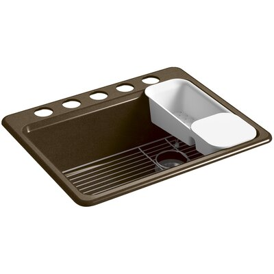 Riverby 27 x 22 Undermount Single Bowl Kitchen Sink Finish: Black/Tan