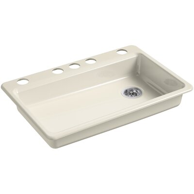 Riverby 33 x 22 Undermount Single Bowl Kitchen Sink Finish: Almond