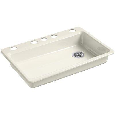 Riverby 33 x 22 Undermount Single Bowl Kitchen Sink Finish: Biscuit