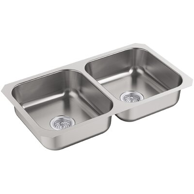 McAllister 32 x 28 Undermount Double Bowl Kitchen Sink
