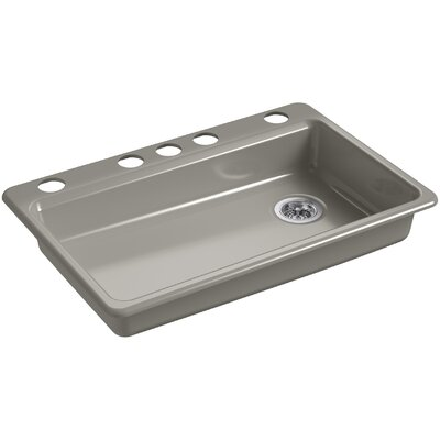 Riverby 33 x 22 Undermount Single Bowl Kitchen Sink Finish: Cashmere