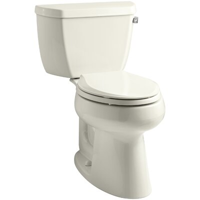 Highline Comfort Height 1.0 GPF Elongated Toilet 2 Piece Finish: Biscuit, Lever Location: Right-Hand