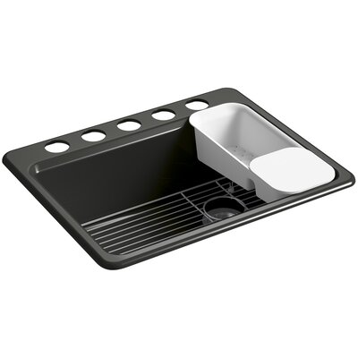 Riverby 27 x 22 Undermount Single Bowl Kitchen Sink Finish: Caviar