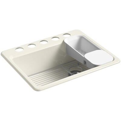 Riverby 27 x 22 Undermount Single Bowl Kitchen Sink Finish: Biscuit