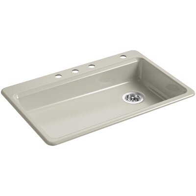Riverby 33 x 22 Top Mount Single Bowl Kitchen Sink Finish: Sandbar