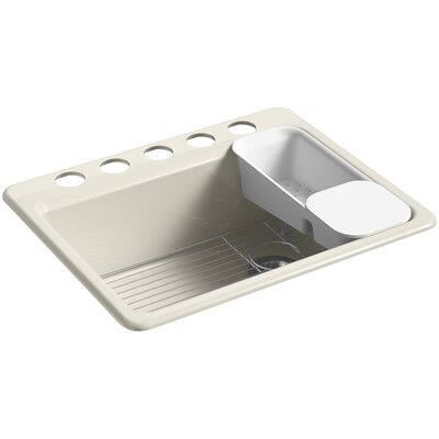 Riverby 27 x 22 Undermount Single Bowl Kitchen Sink Finish: Cane Sugar