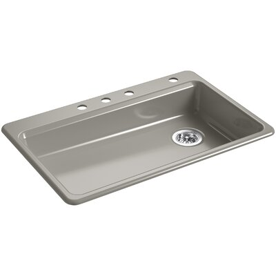 Riverby 33 x 22 Top Mount Single Bowl Kitchen Sink Finish: Cashmere