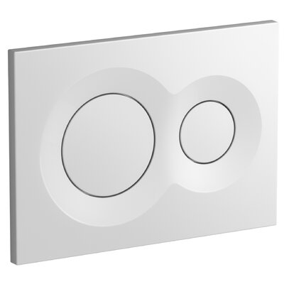 Lynk Flush Actuator Plate Finish: White