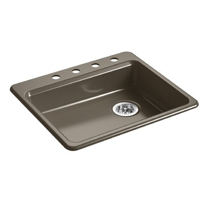 Riverby 25 x 22 Top Mount Single Bowl Kitchen Sink Finish: Suede