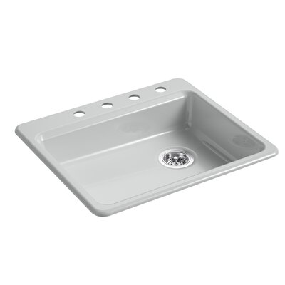 Riverby 25 x 22 Top Mount Single Bowl Kitchen Sink Finish: Ice Gray
