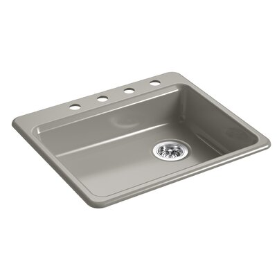 Riverby 25 x 22 Top Mount Single Bowl Kitchen Sink Finish: Cashmere