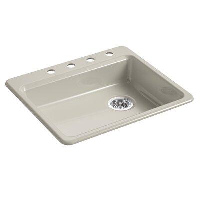 Riverby 25 x 22 Top Mount Single Bowl Kitchen Sink Finish: Sandbar