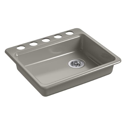 Riverby 25 x 22 Undermount Single Bowl Kitchen Sink Finish: Cashmere