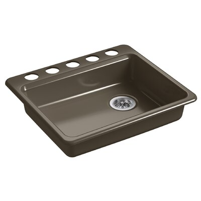 Riverby 25 x 22 Undermount Single Bowl Kitchen Sink Finish: Suede