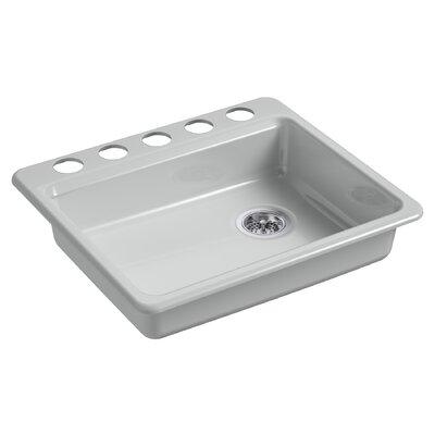 Riverby 25 x 22 Undermount Single Bowl Kitchen Sink Finish: Ice Gray