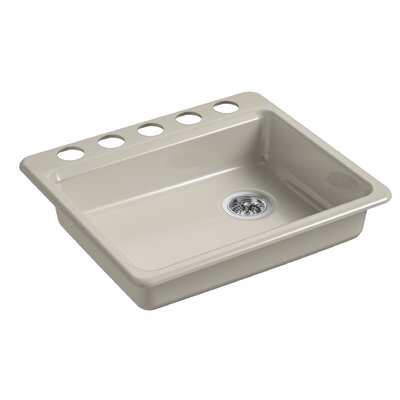 Riverby 25 x 22 Undermount Single Bowl Kitchen Sink Finish: Sandbar