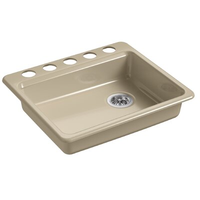 Riverby 25 x 22 Undermount Single Bowl Kitchen Sink Finish: Mexican Sand