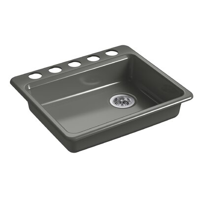Riverby 25 x 22 Undermount Single Bowl Kitchen Sink Finish: Thunder Gray