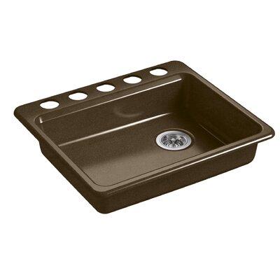 Riverby 25 x 22 Undermount Single Bowl Kitchen Sink Finish: Black/Tan