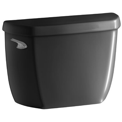 Wellworth 1.0 GPF Toilet Tank Lever Location: Left-Hand, Finish: Black