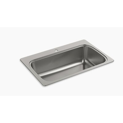 Verse 33 x 22 Top Mount Single Bowl Kitchen Sink Faucet Drillings: 1 Hole