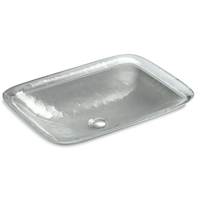 Inia  Glass Rectangular Vessel Bathroom Sink Finish: Opaque Stone