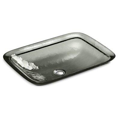 Inia  Glass Rectangular Vessel Bathroom Sink Finish: Translucent Stone
