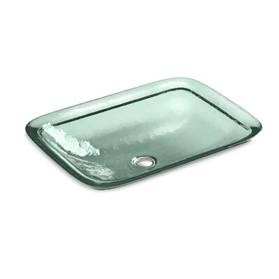 Inia? Wading Pool Rectangular Vessel Bathroom Sink Finish: Translucent Dew