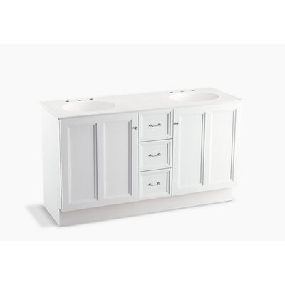 Damask� 60 Vanity with Toe Kick, 2 Doors and 3 Drawers Finish: Linen White