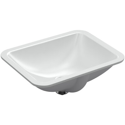 Caxton Rectangle Undermount Bathroom Sink with Overflow Finish: Ice Gray