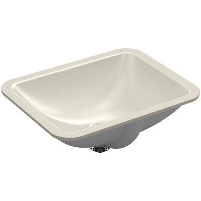 Caxton Rectangle Undermount Bathroom Sink with Overflow Finish: Sandbar
