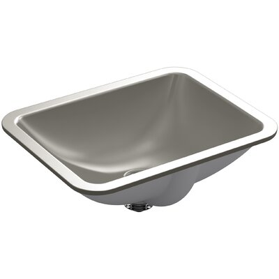 Caxton Rectangle Undermount Bathroom Sink with Overflow Finish: Cashmere