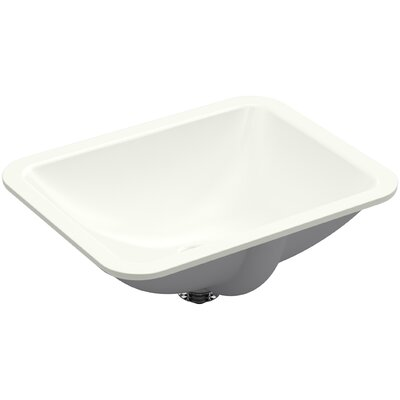 Caxton Rectangle Undermount Bathroom Sink with Overflow Finish: Dune