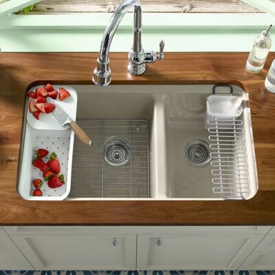 Riverby 33 x 22 Double Basin Undermount Kitchen Sink